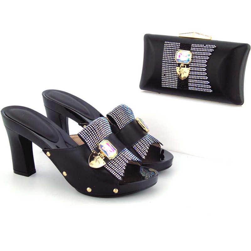 and high Sinyafashion wholesale African selling bag set bags Hot heel shoes italian shoes and rrSpP