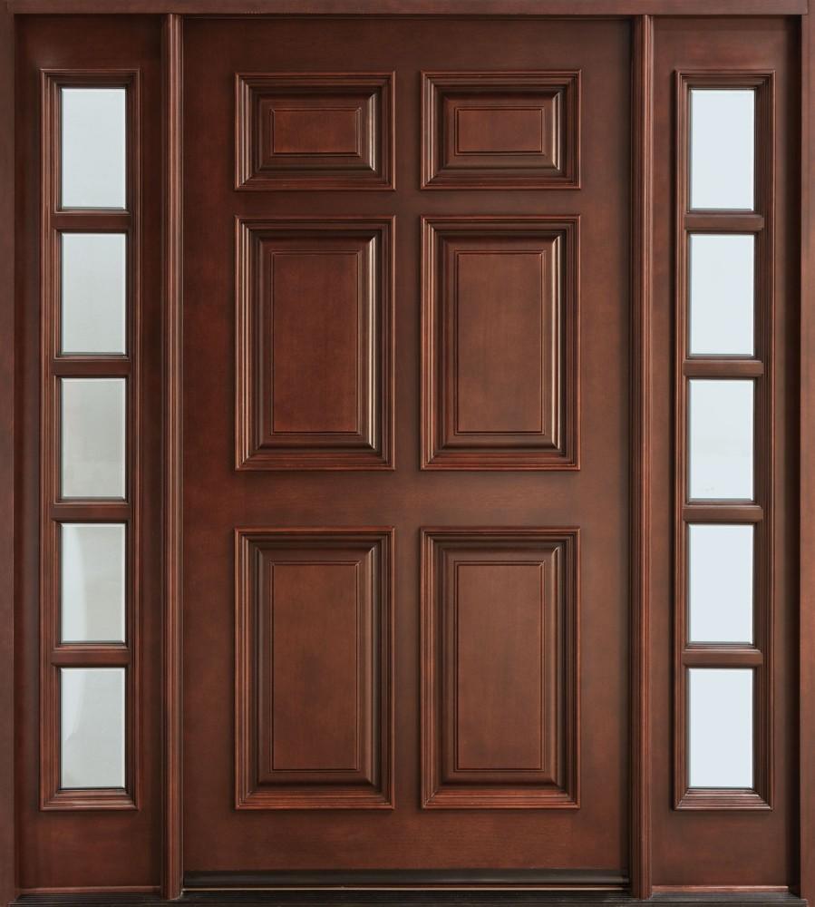 Disenos Puertas Frente Casa 25: Madera Maciza Frente De Entrada Puerta Principal Diseño