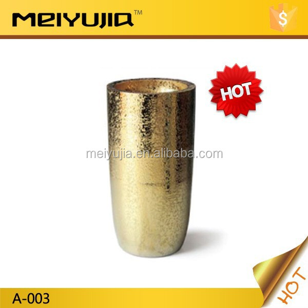 A-003 Promotion gold color pedestal basin bathroom hand wash ceramic basin