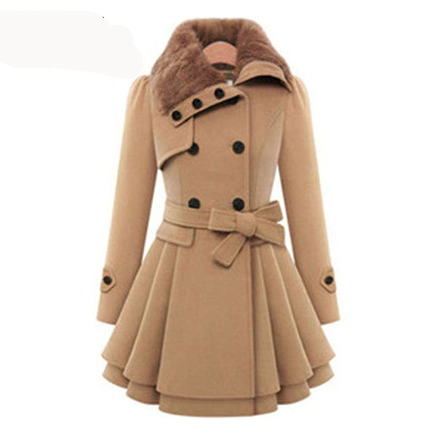 262b013dcd573 Get Quotations · women winter autumn trench coat brand woolen coat double  breasted long sleeve belt red slim womens