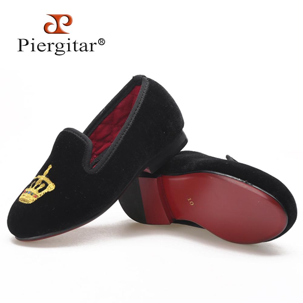 embroidery velvet black embroidery black shoes children q6v0Hwq