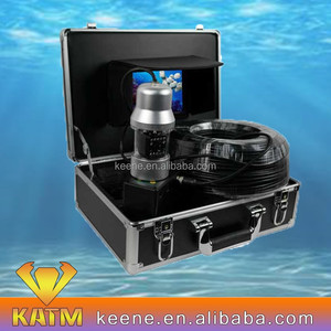 "7"" LCD display 360degree panning underwater camera with metal housing 20m/50m/100m"
