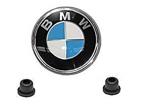 BMW e12 GENUINE decklid Trunk Emblem __ KIT __ oem + grommets