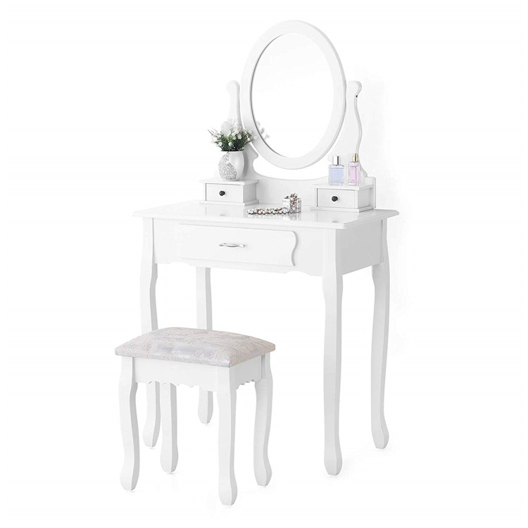 Low Price Cheap Contemporary Modern Bedroom Furniture White Small Wood Corner Mirrored Makeup Vanity Dresser With Mirror Buy Bedroom