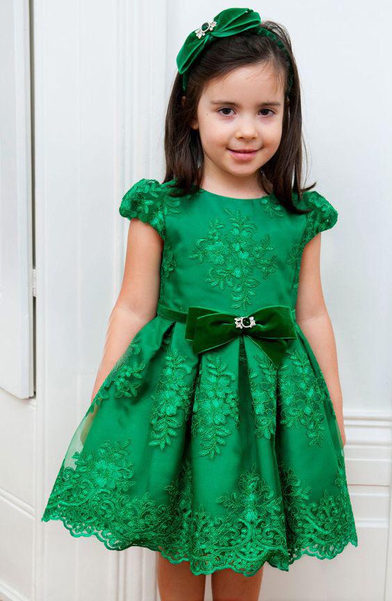 Popular Emerald Green Girls Dress Buy Cheap Emerald Green