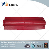 Chinese small titled ridge tile concrete roofing material