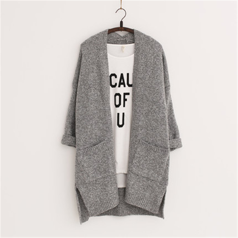 2016 Long Women Cardigans Feminino Autumn font b Winter b font Brand Long Style Knitted with