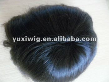 the best quality instock virgin indian hair men toupee