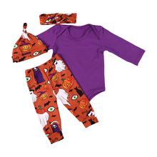 Halloween Boutique Outfits baby Girl Fall <span class=keywords><strong>Kleding</strong></span> <span class=keywords><strong>4</strong></span> stks Sets <span class=keywords><strong>kleding</strong></span>