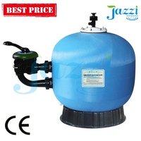 Jazzi Industrial Fibreglass sea water media filter/active Side-Mount Valve Sand Filter