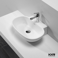 KKR Modern China Solid Surface Stone Table Top Countertop Bathroom Wash Hand Basin