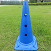 2018 New Wholesale 38cm plastic sports training marker cones with holes soccer training mark cones roadblock