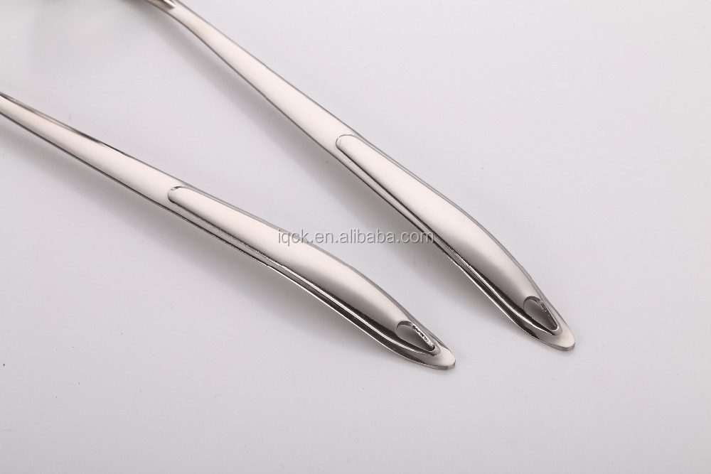 18 / 0 or 410 promotion stainless steel slotted spoon cooking ware tools