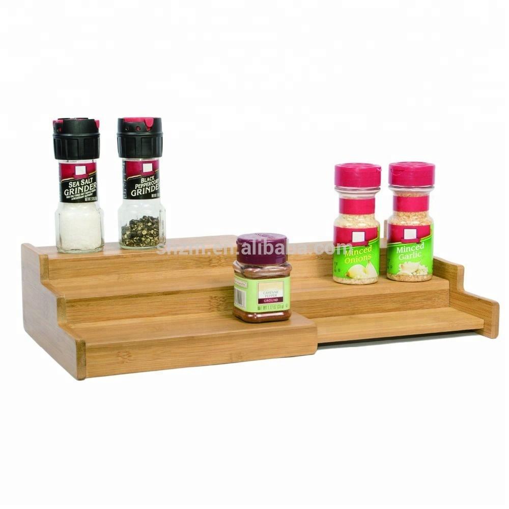 Expendable Bamboo Wood Spice Rack 3 Tier Kitchen Countertop Storage  Organizer - Buy 3-tier Corner Shelf,3 Tier Makeup Organizer,Bamboo Spice  Display ...