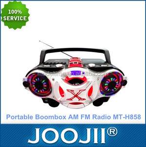Portable Digital CD Boombox Radio with Single cassette Recorder