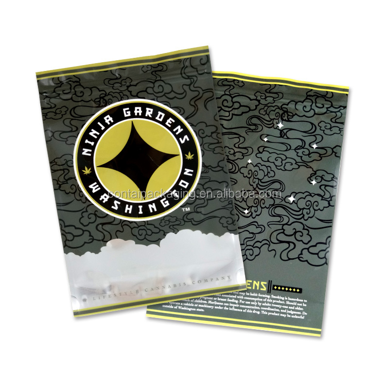 Hot new moisture proof aluminum foil ziplock resealable custom printed large mylar bags for tobacco leaves