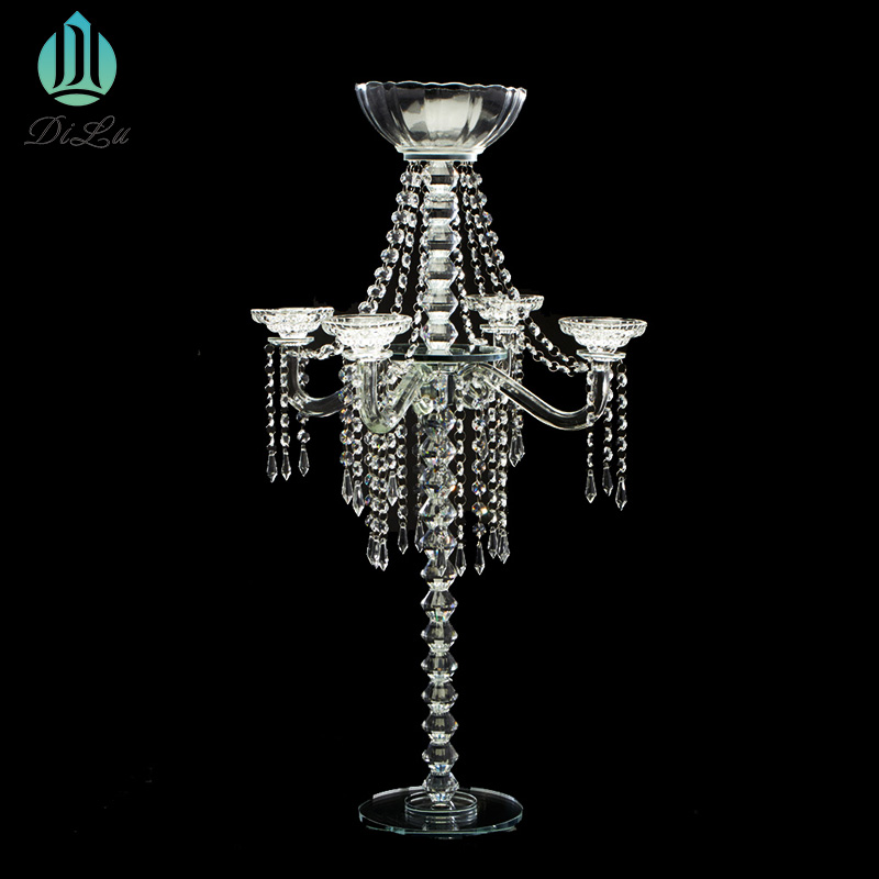 Wholesale table centerpiece,crystal decoration Home Party Table Decoration Wedding Crystal Road lead Wedding Flower Holder Stand