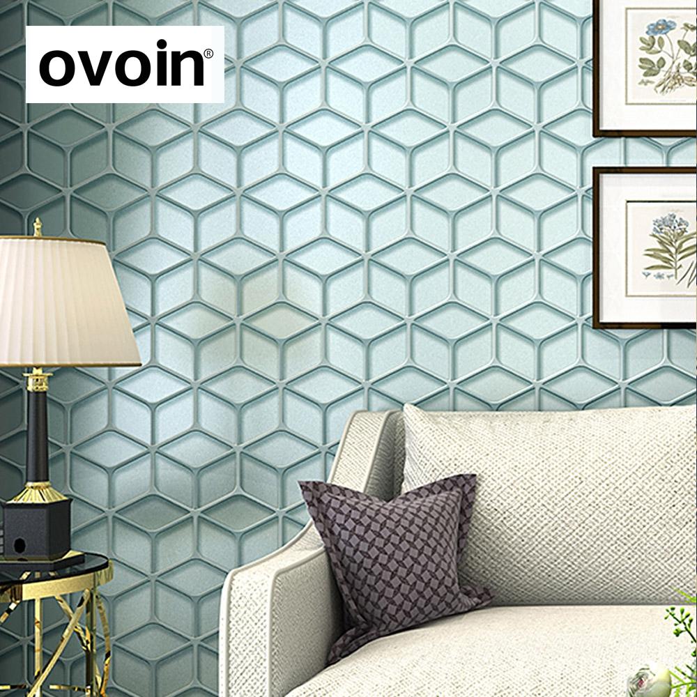 llano enrejado de diamante patrn de papel de pared decoracin del hogar moderno abstracto d impresin