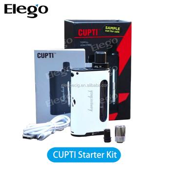 Elego Best Price Kangertech Cupti 75w Tc All-in-one Starter Kit 5ml Top  Filling Leak-free Authentic Kanger - Buy Kangertech Cupti 75w