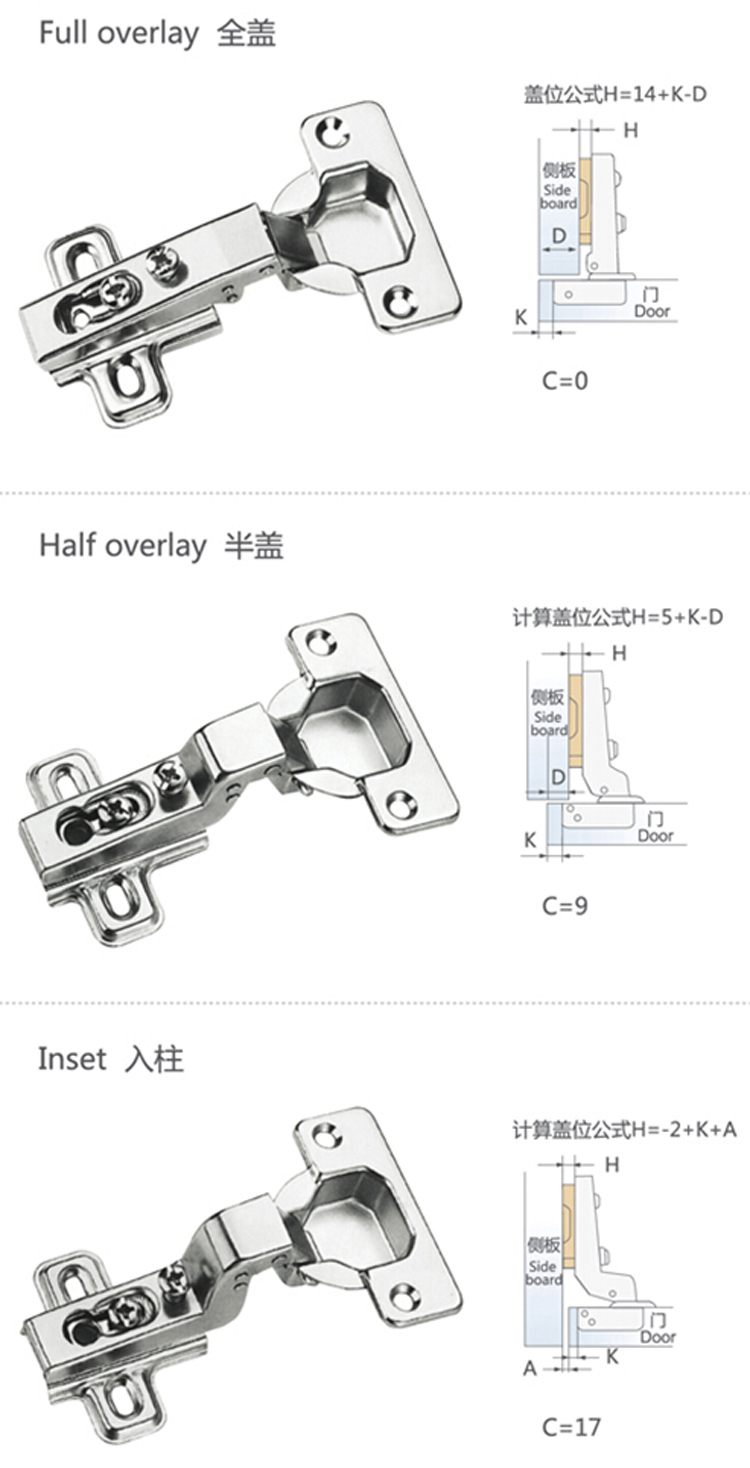 Kitchen Cabinet Fasteners 35mm One Way Key Hold Kitchen Cabinet Screw On Hinge Buy Screw