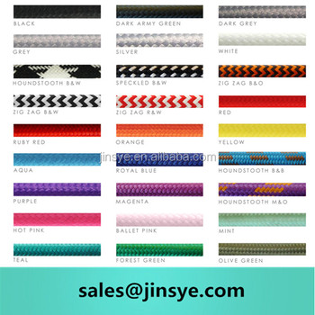 Decorative Lighting Fabric Electrical Cable Suppliers Types Wire Colors