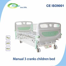 Manual 3 crank hospital for children assisted to help children recovery