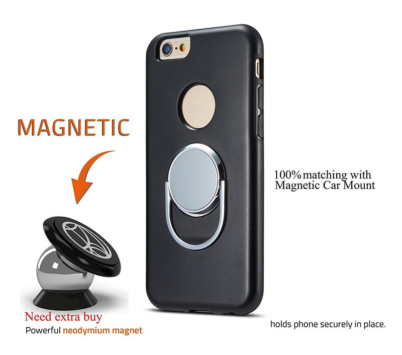 Rotary Magnetic Car Mount Holder Phone Case For Iphone 7 Plus - Buy ... d24806326cb4