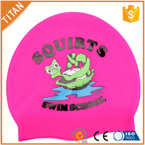 Custom breathe freely waterproof soft silicone swim cap