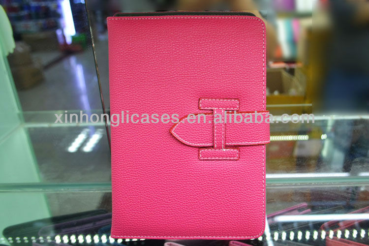 new arrival Top quality Luxury Leather belt clip case for ipad mini
