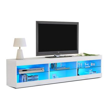Simple Modern Gl Tv Stand White High Gloss Led Cabinet Design Product On