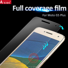 High HD 3D ultrathin soft tpu yellow cell phone screen film for Moto G5 / G4 plus