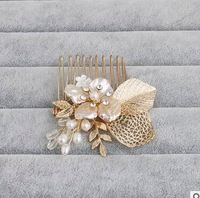 Gorgeous hair comb floral headband women pearl jewelry hairband soft chain hair ornaments bridal tiara wedding accessories