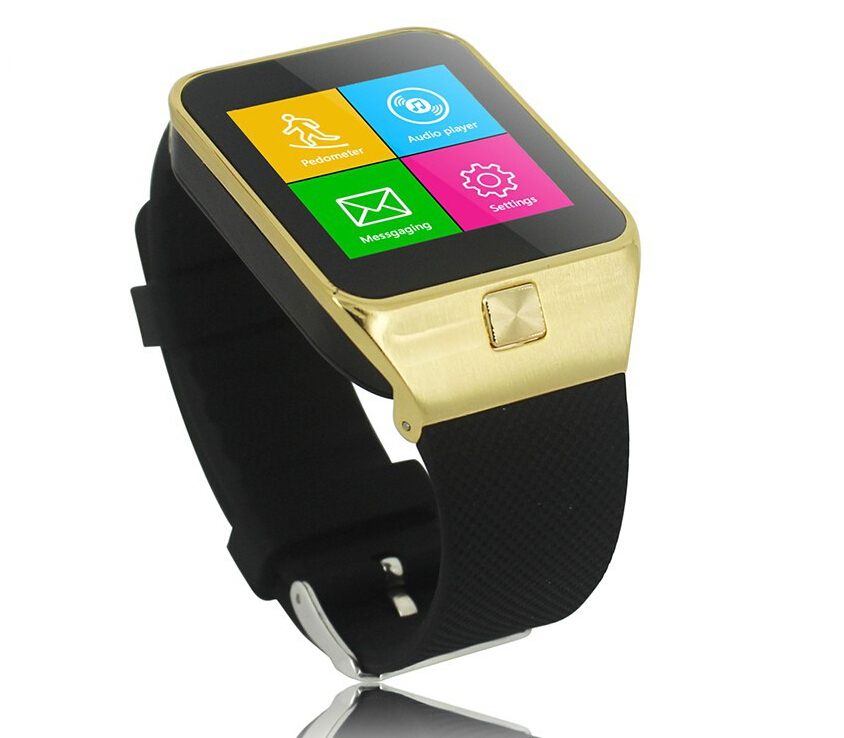 2015 new original Bluetooth watch smart phone led watch montre smartwatch gsm sim wristwatch sync for iphone samsung sony androi