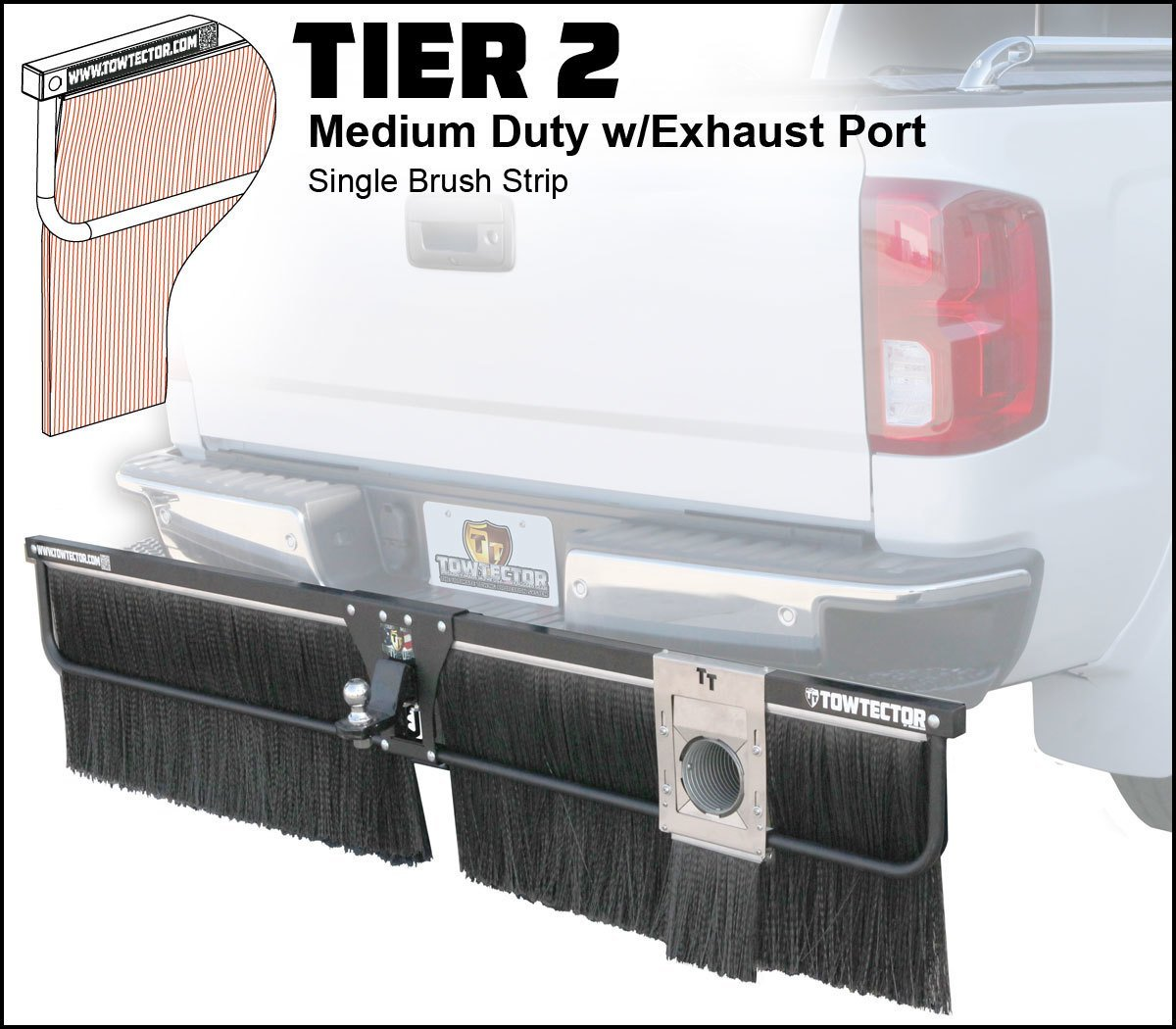 "Towtector 27818-T1 Tier 1 Light Duty 78/"" Single Rubber MudFlap for 2/"" Receivers"