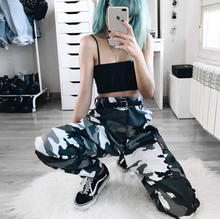 X88209A new style camo print model ladies casual loose sports trousers women harem sweat pants