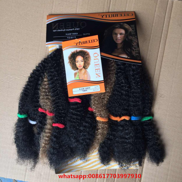 New Synthetic Kinky Crochet Twist Hair Bulk Afro Twist