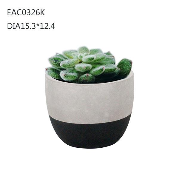 Novel Idea Designed Concrete /cement Plant Pot /flower Pot For Home Decor  For Business