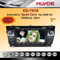 pure android 4.4 quad core car radio dvd player with gps navigation mirror link review camera for corolla2014