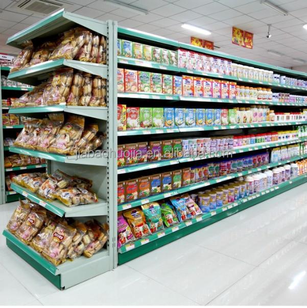 Heavy Duty Metallic Advertising Display Supermarket Shelf