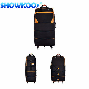Big capacity expandable bag travel foldable trolley Rolling duffel korea tote tow bag