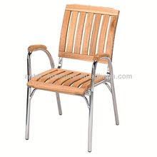Aluminum wood cane arm chair