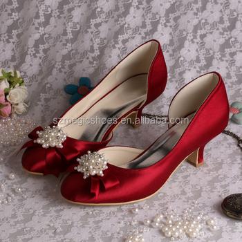 21 colores) vino rojo mujeres bajo los talones zapatos de novia