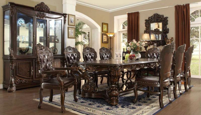 Mesas de comedor de madera antiguas feliz pas de amrica for Muebles de comedor elegantes