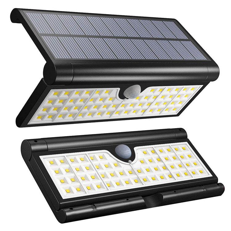 Intelligent Super Bright 58 LED Wireless Outdoor Waterproof PIR  Motion Sensor Solar Sensor Wall Light