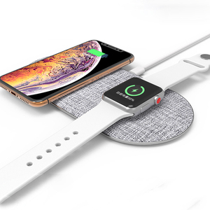 2 in 1 Phone Wireless Charger Stand wireless Charging Station Compatible for Apple watch Series 4/3/2/1/