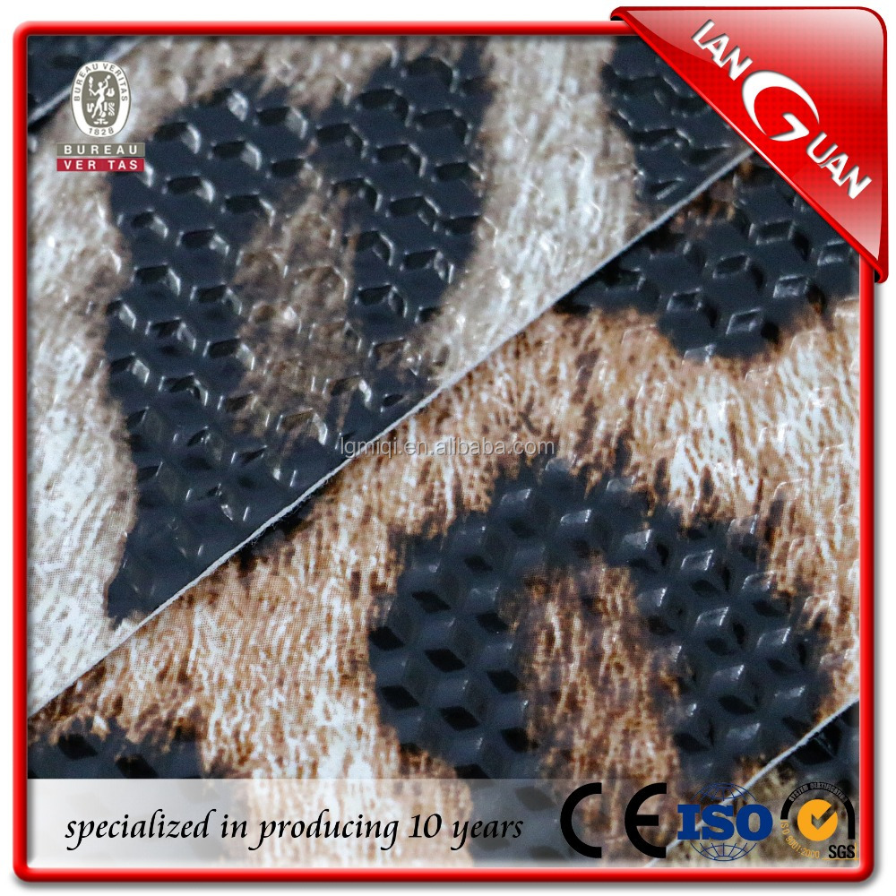 PVC Leopard grain manufacturers synthetic leather