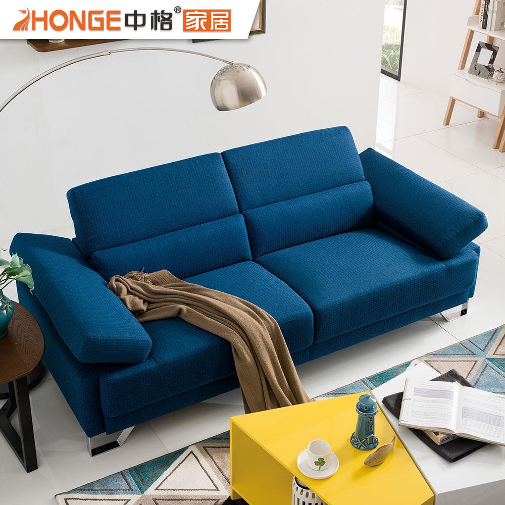 Modern Design Apartment Furniture 2 Seater Fabric Corner Navy Blue Sofa  Loveseats - Buy Navy Blue Sofa,Fabric Sectional Sofa,Fabric Corner Sofa  Sets ...