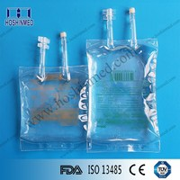 50ml-3000ml volume IV infusion bag/IV fluids bag two tube
