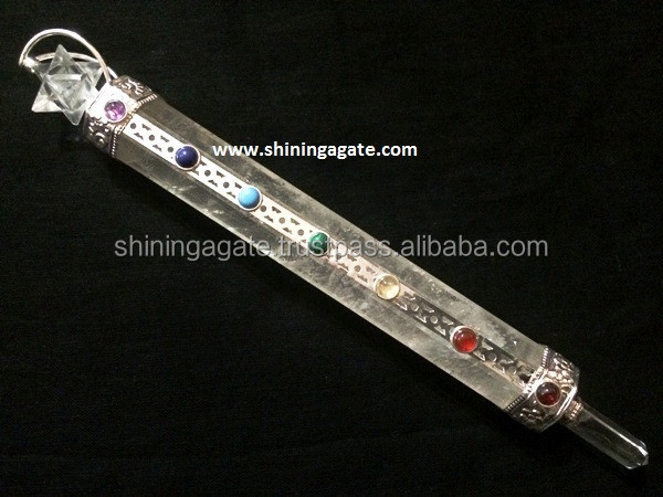 Crystal Quartz Spinning Merkaba Chakra Healing Stick: Wholesale ...