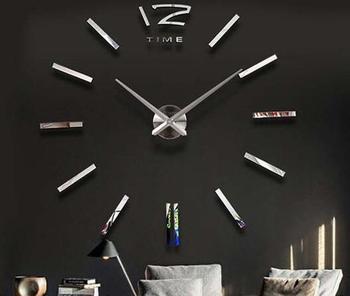 Fashion Large Mute Quartz Diy Photo Frame Wall Clock